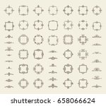 circle and square wicker... | Shutterstock . vector #658066624