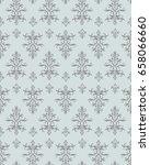 vector seamless ornament... | Shutterstock .eps vector #658066660