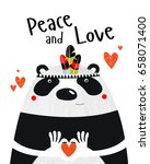 "a poster with a panda ""peace... 
