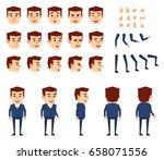businessman in blue suit... | Shutterstock .eps vector #658071556