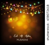 eid mubarak background. | Shutterstock .eps vector #658072618
