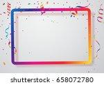 celebration background frame... | Shutterstock .eps vector #658072780