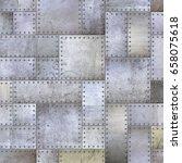 steel metal plate background 3d ... | Shutterstock . vector #658075618