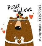 "poster ""peace and love."" a... 