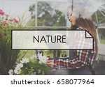 nature word on plants background | Shutterstock . vector #658077964