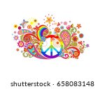 t shirt colorful print with... | Shutterstock .eps vector #658083148