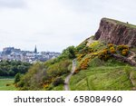 arthur's seat  the main peak of ...   Shutterstock . vector #658084960