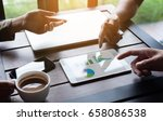 close up business group meeting ... | Shutterstock . vector #658086538