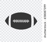 american football sport ball... | Shutterstock .eps vector #658087399