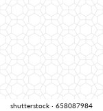 hexagon geometric line grid... | Shutterstock .eps vector #658087984