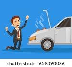 car broken down. exploding...   Shutterstock .eps vector #658090036
