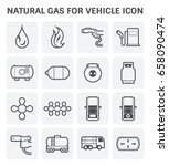 tank and transportation icon of ... | Shutterstock .eps vector #658090474