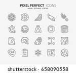thin line icons set of car... | Shutterstock .eps vector #658090558