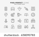 thin line icons set of car... | Shutterstock .eps vector #658090783