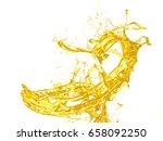 isolated splash of apple juice... | Shutterstock . vector #658092250