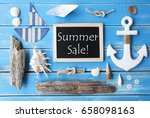 nautic chalkboard and text... | Shutterstock . vector #658098163