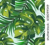 tropical seamless pattern of a...   Shutterstock .eps vector #658099549