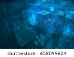 abstract business science or... | Shutterstock . vector #658099624