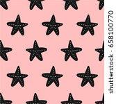 seamless pattern  starfish art  ... | Shutterstock .eps vector #658100770