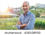 portrait of a proud mature... | Shutterstock . vector #658108930