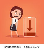 tired sad office worker... | Shutterstock .eps vector #658116679