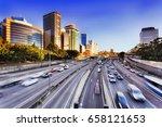 morning speeding traffic on...   Shutterstock . vector #658121653