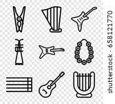 string icons set. set of 9... | Shutterstock .eps vector #658121770