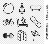 activity icons set. set of 9... | Shutterstock .eps vector #658123138