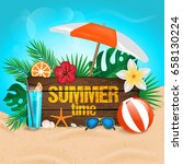summer time typographic on... | Shutterstock .eps vector #658130224