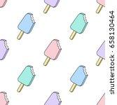 vector trendy seamless pattern... | Shutterstock .eps vector #658130464