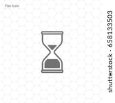 hourglass vector icon | Shutterstock .eps vector #658133503