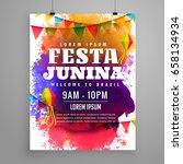 festa junina invitation flyer... | Shutterstock .eps vector #658134934