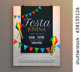 poster for festa junina holiday ... | Shutterstock .eps vector #658135126