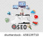 vector seo ideas  background... | Shutterstock .eps vector #658139710