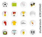 soccer football icons set in... | Shutterstock .eps vector #658140460