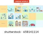 linear flat hospital and... | Shutterstock .eps vector #658141114