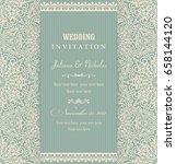 wedding invitation cards... | Shutterstock .eps vector #658144120