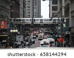 chicago  usa   april 28 2017  ... | Shutterstock . vector #658144294