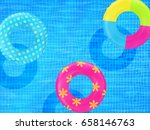 swim rings on swimming pool... | Shutterstock .eps vector #658146763