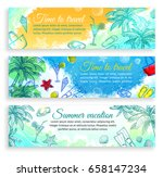 summer vacation. set of... | Shutterstock .eps vector #658147234