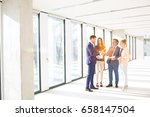 full length of business people... | Shutterstock . vector #658147504