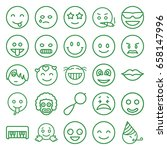 smile icons set. set of 25... | Shutterstock .eps vector #658147996
