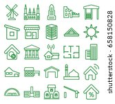 building icons set. set of 25... | Shutterstock .eps vector #658150828