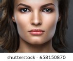 close up portrait of beautiful... | Shutterstock . vector #658150870