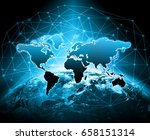best internet concept of global ... | Shutterstock . vector #658151314