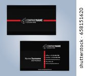 business card template. red and ... | Shutterstock .eps vector #658151620