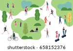 people in the park. people... | Shutterstock .eps vector #658152376