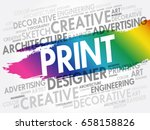print word cloud  creative... | Shutterstock .eps vector #658158826
