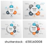 set of  colorful  infographic... | Shutterstock .eps vector #658160008