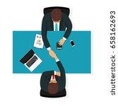 business partner handshake deal ... | Shutterstock .eps vector #658162693